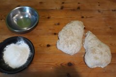 pâton avant le façonnage